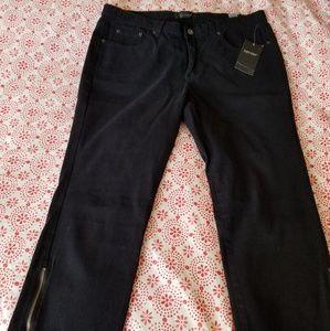 NWT Karen Kane Black Cropped Jeans Sz 12
